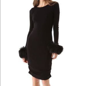 Alice and Olivia Fur Wrist Cuff Dress
